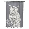e by design Hootie Animal Print Shower Curtain