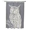 e by design Hootie Bird Print Shower Curtain