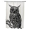e by design Hootie Animal Print Shower Curtain