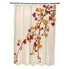 e by design Maple Hues Flower Print Shower Curtain