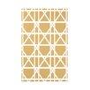 e by design Trellis Geometric Print Throw Blanket