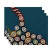 e by design Falling Leaves Geometric Print Placemat