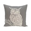 e by design Hootie Animal Print Throw Pillow