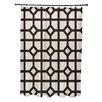 e by design Don't Fret Geometric Print Shower Curtain