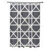 e by design Trellis Geometric Print Shower Curtain