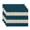 e by design Twisted Stripe Stripe Print Placemat