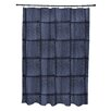e by design Basketweave Geometric Print Shower Curtain