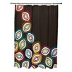 e by design Falling Leaves Geometric Print Shower Curtain