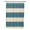 e by design Twisted Stripe Stripe Print Shower Curtain