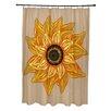 e by design El Girasol Feliz Flower Print Shower Curtain