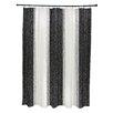 e by design Striate Stripe Stripe Print Shower Curtain