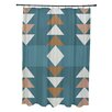 e by design Sagebrush Geometric Print Shower Curtain