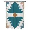 e by design Mesa Geometric Print Shower Curtain
