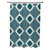 e by design Medina Geometric Print Shower Curtain