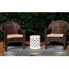 e by design Sagebrush Geometric Print Gray Indoor/Outdoor Area Rug