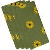 e by design Sunflower Frenzy Flower Print Napkin