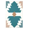 e by design Mesa Geometric Print Throw Blanket