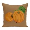 e by design Pumpkin Patch Holiday Print Floor Throw Pillow