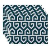 e by design Keyed Up Geometric Print Placemat