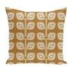 e by design Leaf Tree Geometric Print Floor  Pillow