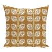 e by design Leaf Tree Geometric Print Throw Pillow