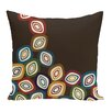 e by design Falling Leaves Geometric Print Throw Pillow