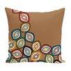 e by design Falling Leaves Geometric Print Throw Pillow