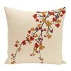 e by design Maple Hues Flower Print Throw Pillow