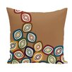 e by design Falling Leaves Geometric Print Floor  Pillow