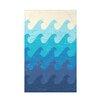 e by design Surf, Sand, & Sea Deep Sea Geometric Throw Blanket