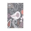 e by design Botanical Blooms Paisley Floral Fleece Throw Blanket