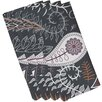 e by design Botanical Blooms Paisley Floral Floral Napkin (Set of 4)