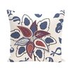 e by design Botanical Blooms Paisley Pop Floral Throw Pillow