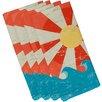 e by design Hang Ten Sunbeams Geometric Napkin (Set of 4)