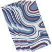 e by design Beach Vacation Agate Geometric Napkin (Set of 4)