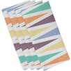 e by design Beach Vacation Backgammon Geometric Napkin (Set of 4)
