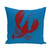 e by design Nautical Nights Lobster Animal Outdoor Throw Pillow