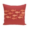 e by design Beach Vacation Fish Line Animal Outdoor Throw Pillow