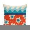 e by design Hang Ten Floral Outdoor Throw Pillow