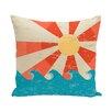 e by design Surf, Sand, & Sea Sunbeams Geometric Throw Pillow