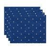 e by design Hang Ten Dorothy Dot Geometric Placemat (Set of 4)