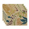 e by design Botanical Blooms Botanical Floral Placemat (Set of 4)