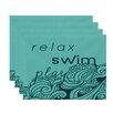 e by design Beach Vacation Mellow Mantra Word Placemat (Set of 4)