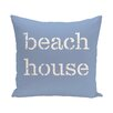 e by design Beach Vacation Beach House Word Throw Pillow