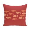 e by design Beach Vacation Fish Line Animal Throw Pillow