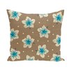 e by design Hang Ten Hibiscus Blooms Floral Throw Pillow