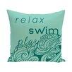 e by design Beach Vacation Mellow Mantra Word Throw Pillow