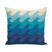 e by design Surf, Sand, & Sea Deep Sea Geometric Throw Pillow