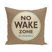e by design Surf, Sand, & Sea Nap Zone Word Throw Pillow