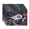 e by design Botanical Blooms Paisley Floral Floral Placemat (Set of 4)